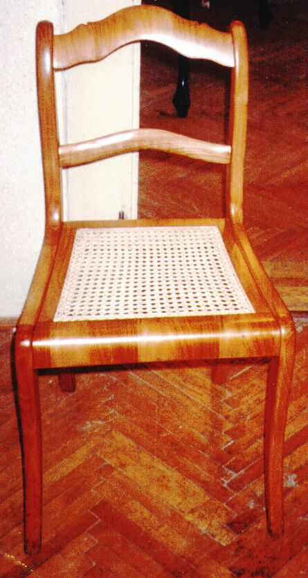 new matting chair cherrywood